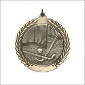 MS127AG Gold Field Hockey Medallion 2-3/4""