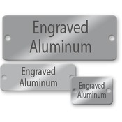 Aluminum name tag, engraved