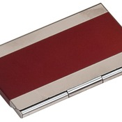 GFT126  Red Metal Business Card Holder