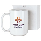 JMUG15WB  15 oz. White Ceramic Mug in White Box