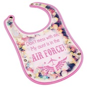 SBL127  Pink Baby Bib with Snaps