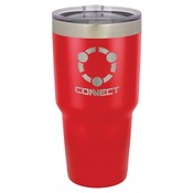LTM933 30 oz. Red Polar Camel Stainless Steel Vacuum Insulated Tumbler