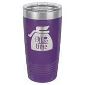 LTM7209-Polar Camel 20 oz. Purple Ringneck Vacuum Insulated Tumbler w/Clear Lid