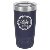 LTM7211-Polar Camel 20 oz. Navy Blue Ringneck Vacuum Insulated Tumbler w/Clear Lid