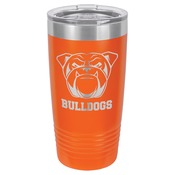 LTM7212-Polar Camel 20 oz. Orange Ringneck Vacuum Insulated Tumbler w/Clear Lid