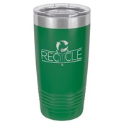 LTM7215-Polar Camel 20 oz. Green Ringneck Vacuum Insulated Tumbler w/Clear Lid
