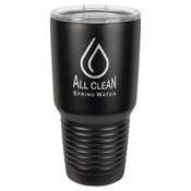 LTM7302-Polar Camel 30 oz. Black Ringneck Vacuum Insulated Tumbler w/Lid, no Silver Ring