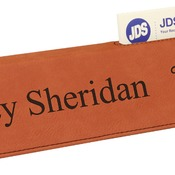 "LLW4310  10 1/2"" Rawhide Leatherette Desk Wedge with Business Card Holder"