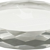 CRY1420  Premier Crystal Oval Paperweight