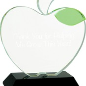 CRY1493M  Crystal Apple with Black Base