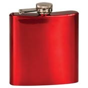 FSK603  6 oz. Gloss Red Stainless Steel Flask