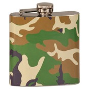 FSK606  6 oz. Camouflage Stainless Steel Flask