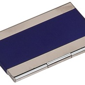 GFT127  Blue Metal Business Card Holder