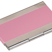 GFT128  Pink Metal Business Card Holder