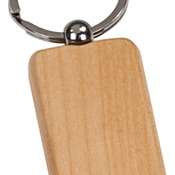 GFT501M  Maple Finish Rectangle Keychain