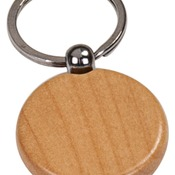 GFT503M   Maple Finish Round Keychain