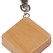 GFT511M  Maple Finish Square 3-Ft Tape Measure & Keychain