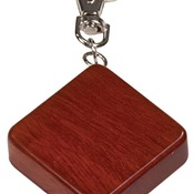 GFT511R  Rosewood Finish Square 3-Ft Tape Measure & Keychain