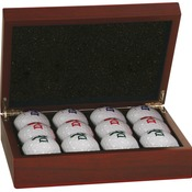 GLF02  Rosewood Finish Golf Ball Set