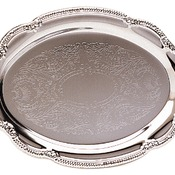 PC22231  Chrome Plated Oval Tray