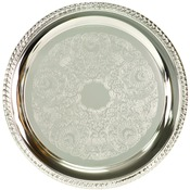 PC4008  Silver Plated Tray, 8""