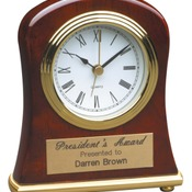 T006  Rosewood Piano Finish Bell Shaped Desk Clock