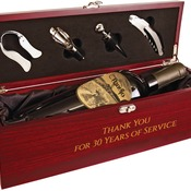 WBX12  Rosewood Finish Single Wine Box with Tools & Black Lining