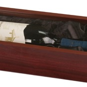 WBX41  Rosewood Finish Wine Box with Clear Acrylic Lid