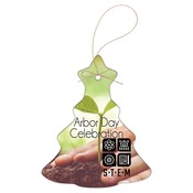 SBL004  2-Sided Ceramic Christmas Tree Ornament with Gold String