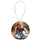 SBL005  2-Sided Ceramic Round Ornament with Gold String