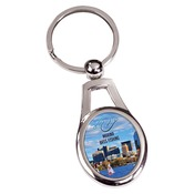 SBL012  Oval Keychain with White Insert