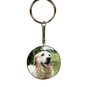 SBL016  2-Sided Round Plastic/Ceramic Composite Keychain