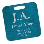 UN4622  2-Sided Square Semi-gloss Aluminum Bag Tag