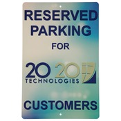 UV304  1-Sided Gloss Aluminum Stree Sign with 2 Holes