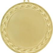 "HR937G - 2 3/4"" Bright Gold Wreath 2"" Insert Holder Medal (double sided)"
