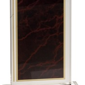 "MBL47RM - 4"" x 7"" Red Marbleized Acrylic with 5"" Base"