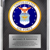 "HER221 - 10 1/2"" x 13"" Air Force Hero Plaque"