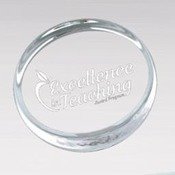 "CP3  ACRYLIC ROUND PAPERWEIGHT 3 ½"" X 5/8"" THICK"