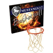 BBP10  10 inches x 7 7/8 inches Sublimatable Basketball Plaque with Metal Hoop