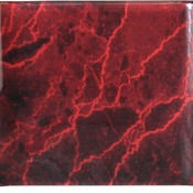 "ACC68RM 8"" x 6"" Red Marbleized Acrylic Crescent"