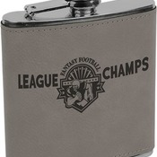 FSK619 6 oz. Gray Leatherette Flask