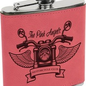 FSK622 6 oz. Pink Leatherette Flask
