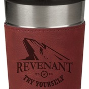 LTM044 16 oz. Rose Leatherette Stainless Steel Travel Mug