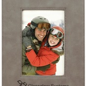 "LLF546 4"" x 6"" Gray Leatherette Frame"