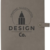 "GFT416 8 3/4"" x 11"" Gray Leatherette Book/Bible Cover with Snap Closure"