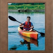 "LLF2810  8"" x 10"" Dark Brown Leatherette Frame"