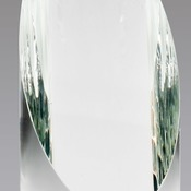 "Elegant Crystal Cylinder With Slant Top Individually Boxed 1 Std Pack  Laserable  2 3/4"" X 5 1/2"" CR"