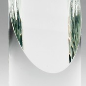 "Elegant Crystal Cylinder With Slant Top Individually Boxed 1 Std Pack  Laserable  2 3/4"" X 7 1/2"" CR"
