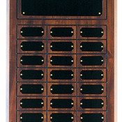 CPP24 Cherry Finish Grooved Perpetual Plaque with 24 Plates