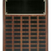 CPP45 Cherry Finish Perpetual Plaque with 45 Plates